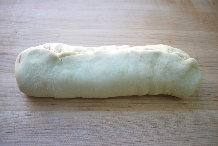 log shaped dough