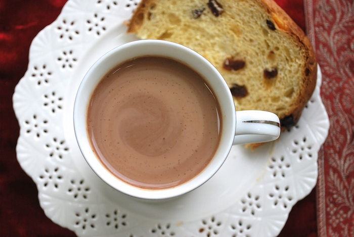Peruvian Hot Chocolate with Panettone.