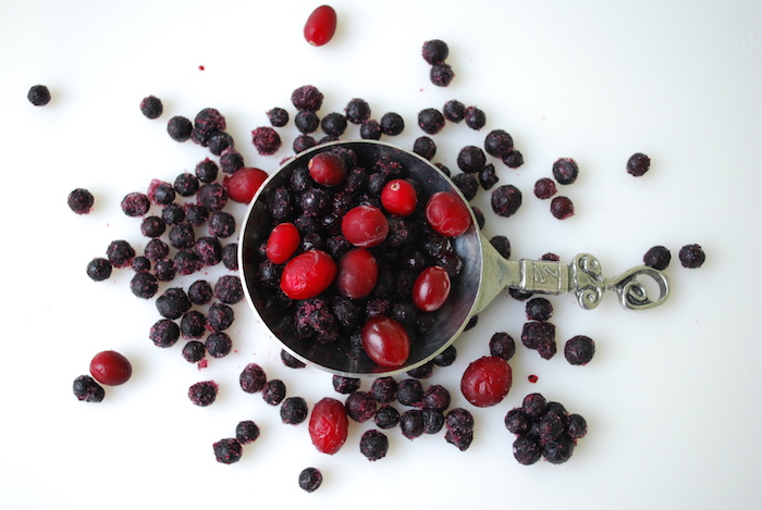 frozen blueberries and cranberries