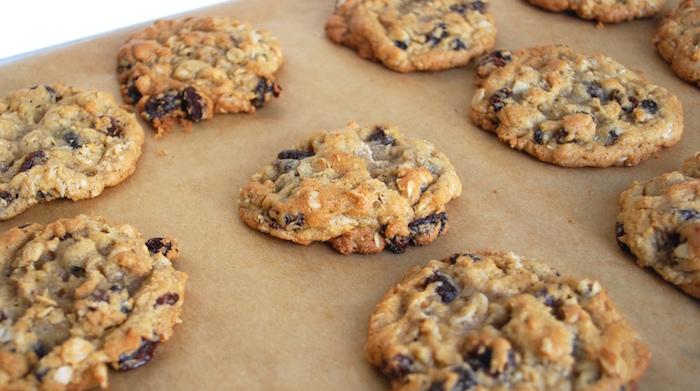 Beautiful oatmeal raisin cookies