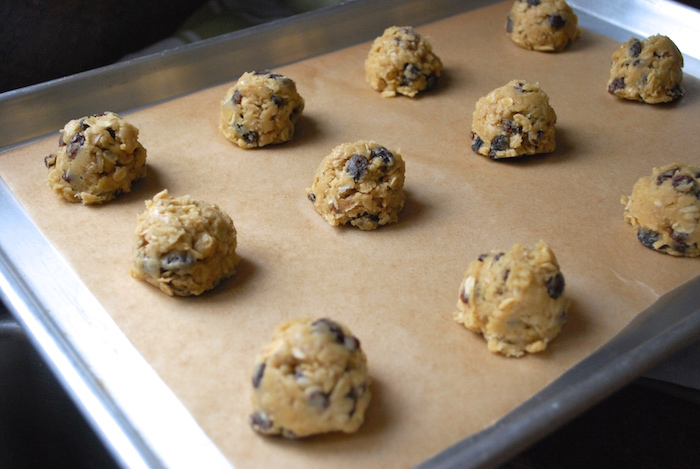 Scoop out onto baking sheet