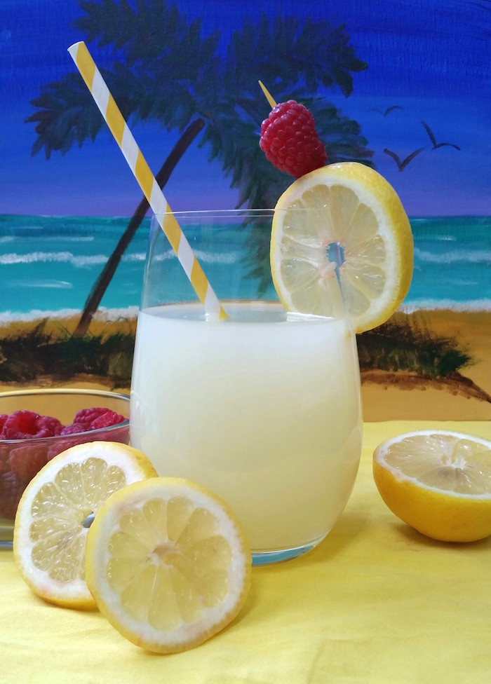 lemonade with painted bg