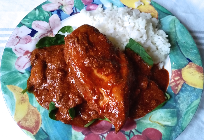 chicken paprika on plate