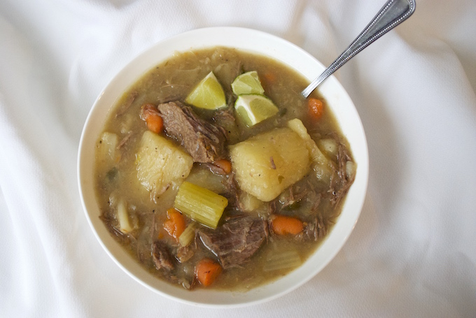 Beef Cabbage Soup - the perfect throw it all in the pot and boil meal that anyone can put together. You'll think it's Mmmmm good. No recipe required. Enjoy!