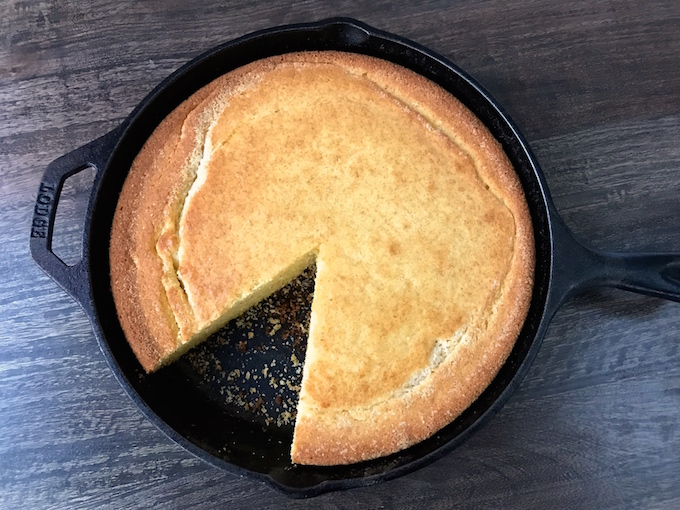 This Consummate Skillet Cornbread uses one bowl and takes 5 minutes to prepare. The simplicity of a box mix, but so much better. This is Cornbread, perfected.