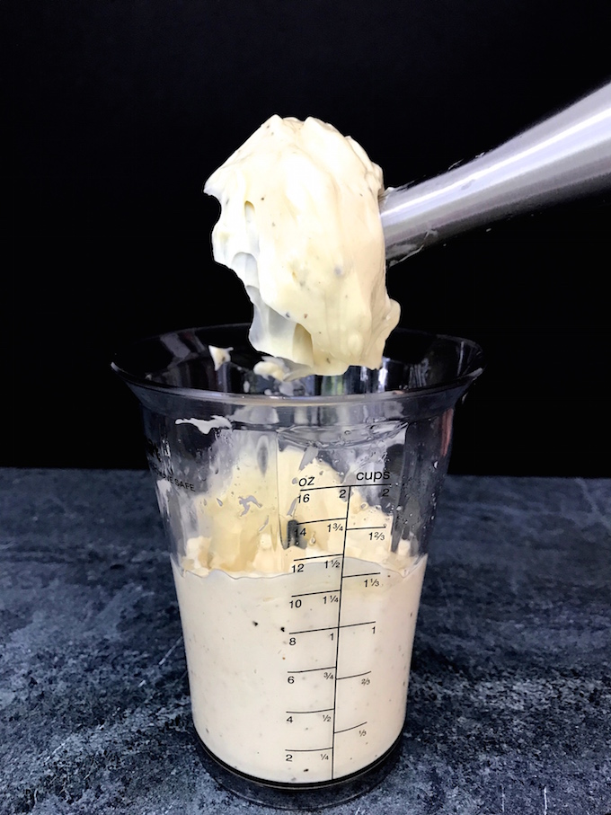 Once you taste Homemade Mayonnaise you will realize there is no comparison to anything you buy. It's incredibly tasty and perfect as an add-in, a condiment, or even a dip. It's that good.