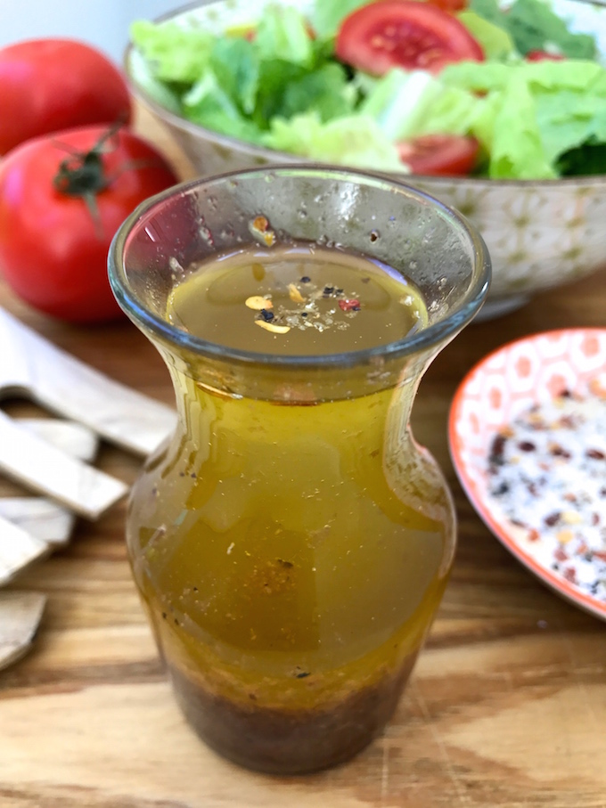 If there can be only one dressing you keep in the fridge, it should be this Americanized Italian Dressing. If you live in the states, this dressing will be familiar to you and the name will make sense. Just like a James Bond martini, it's always shaken, not stirred.