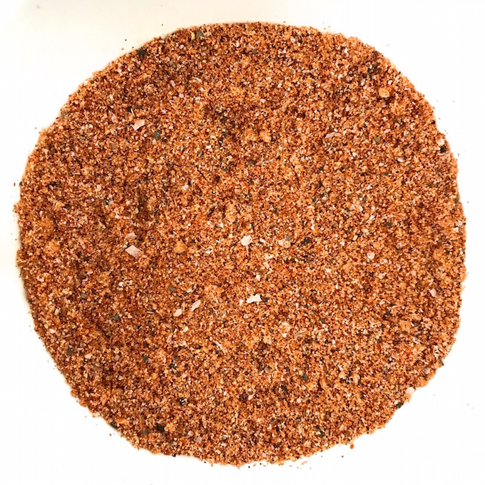 Sweet and Spicy BBQ Rub delivers the perfect amount of salty, sweet, and spice to ribs, chops, brisket, chicken, pork, beans, veggies, and anything you want to flavor with BBQ.