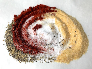 Spices used for Roasted Chicken Leg Quarters
