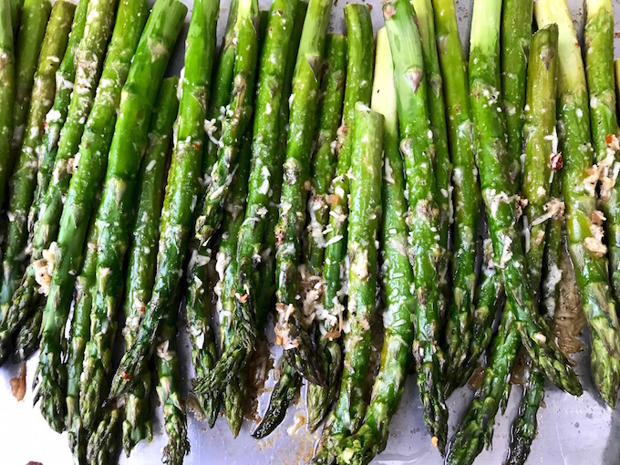 Roasted Asparagus with Parmesan baked.
