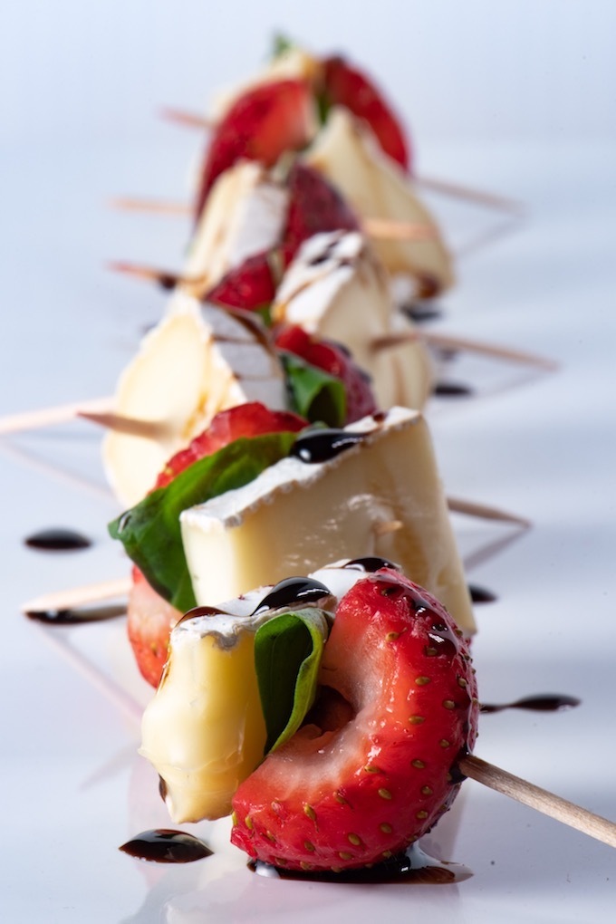 Strawberry Basil Brie Bites