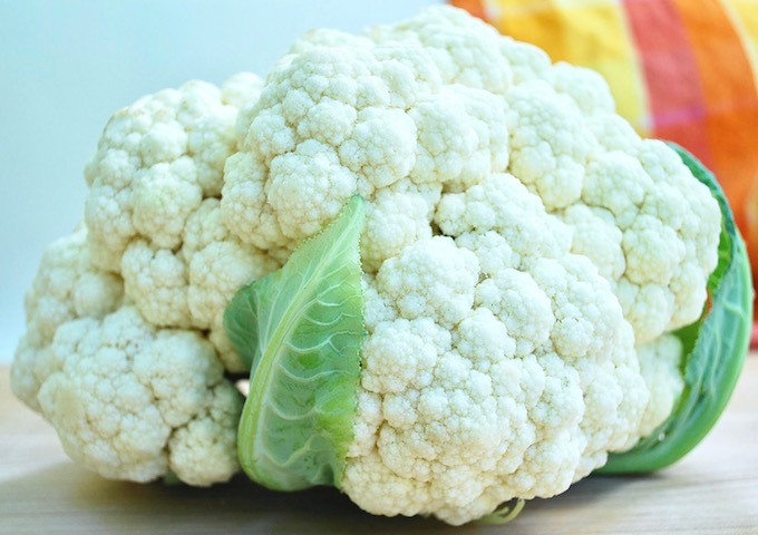 Beautiful head of cauliflower.