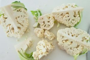 Cauliflower quartered