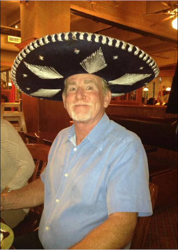 Dad in a sombrero