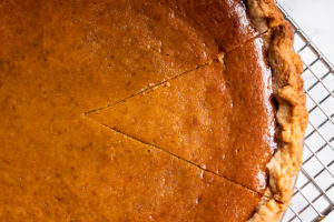 An outline of a slice of pie.