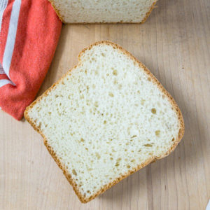 A slice of bread.