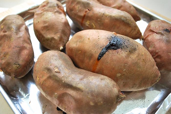 Baked sweet potatoes.