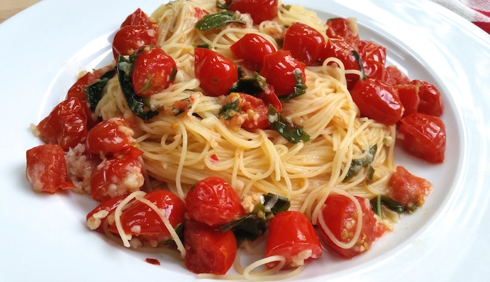 Angel Hair with Sautéed Tomatoes