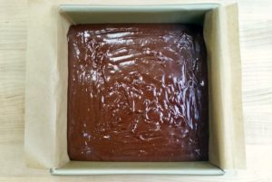Best cocoa brownies ready to bake.