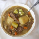 Beef Cabbage Soup - the perfect throw it all in the pot and boil meal that anyone can put together. You will think it is Mmmmm good. No recipe required. Enjoy!