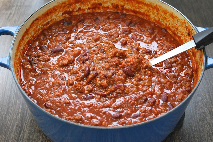 A pot full of Nat your average chili.