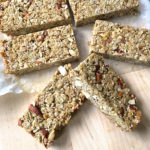 Honey Nut Granola Bars are crunchy, nutty, and sweetened just enough to hold together and taste delicious.Makes a perfect portable breakfast or snack.