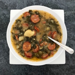 Bowl of Linguisa Kale Soup