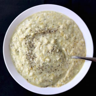 Bowl of Potato Leek Soup.