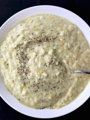 Bowl of Potato Leek Soup.