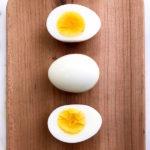 3 hardboiled eggs.