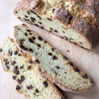 Sliced Irish Soda Bread.