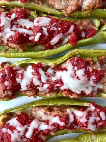 Stuffed Peppers with Sausage and Mozzarella