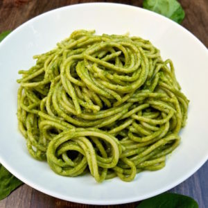 Spinach Pesto plated