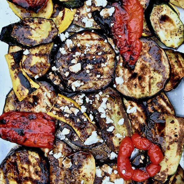 Grilled Vegetables with Feta and Balsamic Vinaigrette