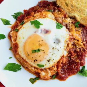 eggs in purgatory on plate