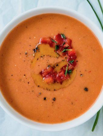 Bowl of gazpacho