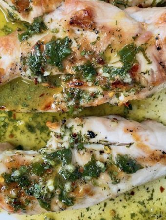 Lemon herb chicken breasts.