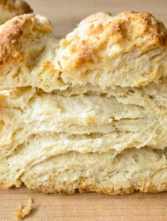A perfect baking powder biscuit.