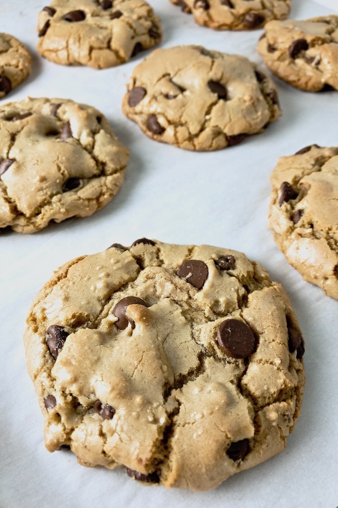 Thick chewy chocolate chip cookie.