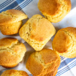 Baked corn muffins.