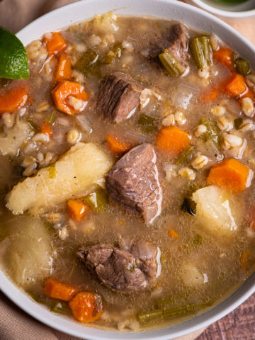 Thick Hearty Beef Barley Soup