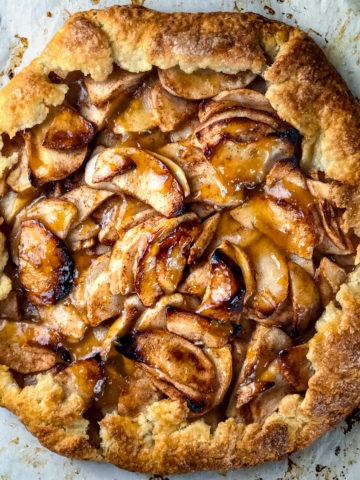 A perfectly baked apple galette.