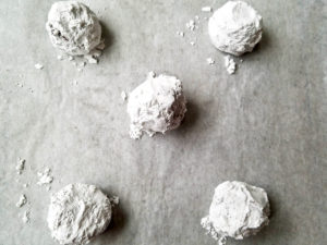 Sugar coated cookies ready to bake.