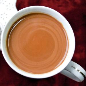 A cup of Peruvian hot chocolate.