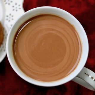 A cup of Peruvian hot chocolate.