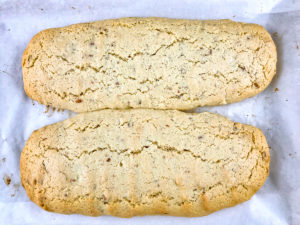 Baked biscotti mounds.
